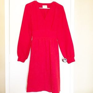 Kate Spade Red Long Sleeved Dress